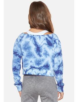 university-of-michigan-tie-dye-crop-sweatshirtuniversity-of-michigan-sequin-raglan-tee by justice