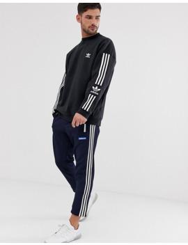 adidas-originals-sweatshirt-with-3-stripe-in-black by adidas-originals