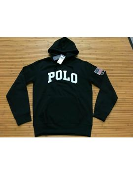 new-mens-small-polo-ralph-lauren-polo-usa-flag-spell-out-hoodie-sweatshirt-black by polo-ralph-lauren