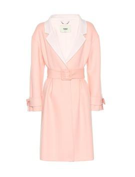 belted-wool-coat by fendi