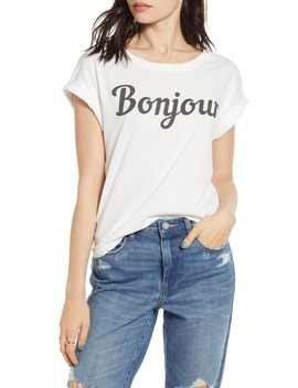 bonjour-graphic-tee by day-by-daydreamer