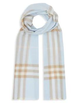 lightweight-check-wool-silk-scarf by burberry