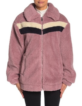 retro-faux-shearling-teddy-jacket by guess