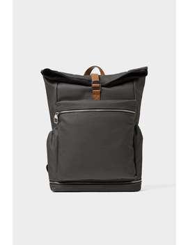 gray-flap-backpack by zara