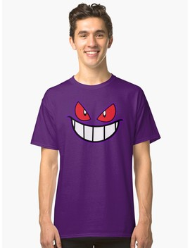 gengar-monster-purple-pokeball-classic-t-shirt by dadang-lugu-mara-perdana