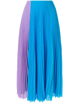 colour-block-pleated-skirt by solace-london