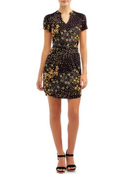 juniors-belted-tunic-dress by no-boundaries