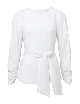 tie-cotton-shirt by witchery