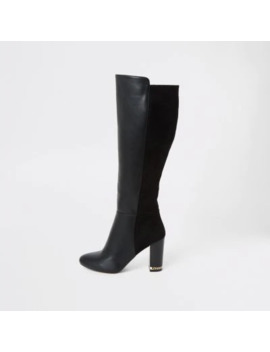 black-knee-high-heeled-boots by river-island