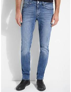 guess-eco-luxe-x-refibra-technology-slim-tapered-jeans by guess