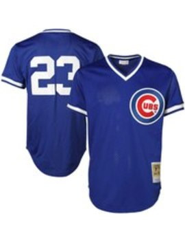Mitchell & Ness Ryne Sandberg Chicago Cubs Cooperstown Authentic Collection Throwback Replica Jersey   Royal Blue by Mitchell & Ness