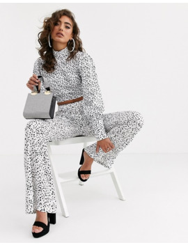 pretty-lavish-backless-high-neck-satin-top-in-polka-dot-two-piece by pretty-lavish