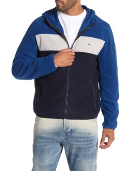 fleece-hoodie-colorblocked-jacket by tommy-hilfiger