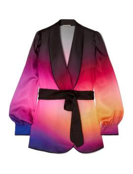 darcy-belted-ombré-satin-twill-blazer by mary-katrantzou