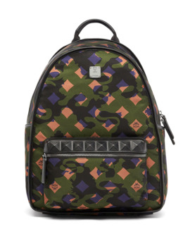 dieter-munich-lion-camo-canvas-backpack,-green by mcm