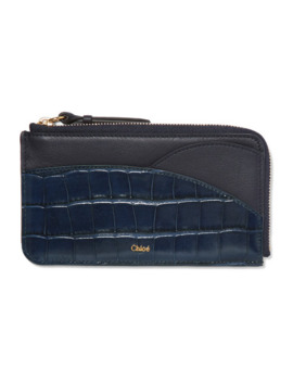walden-smooth-and-glossed-croc-effect-leather-cardholder by chloé