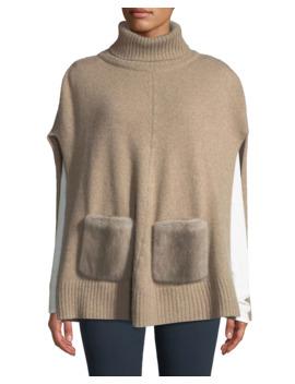 cashmere-turtleneck-poncho-w_-fur-pockets by carolyn-rowan