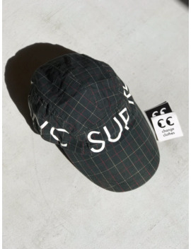 supreme-plaid-1994-nyc-sport-cap-2008-dark-green-rare-flex by supreme  ×