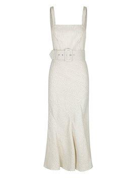 Shaw Linen Contour Panel Midi Dress by Shona Joy