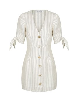 Shaw Linen Fitted Mini Dress by Shona Joy