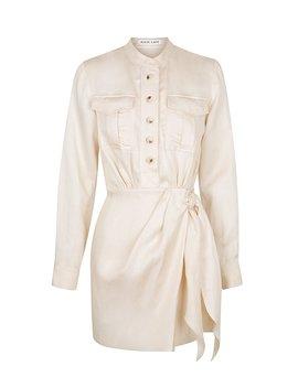 Ellington Linen Shirt Mini Dress   Ecru by Shona Joy