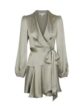 Joan Wrap Mini Dress   Sage by Shona Joy