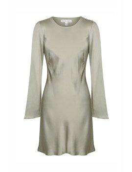 Joan L/S Bias Mini Dress   Sage by Shona Joy