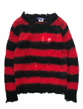 a_w14-distressed-mohair-sweater by junya-watanabe  ×  comme-des-garcons  ×