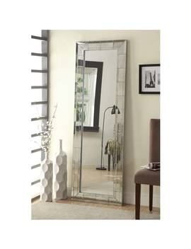 coaster-company-floor-mirror-with-antigue-silver-beveled-edge by coaster-company
