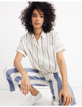petite-tie-front-shirt-in-montpellier-stripe by madewell