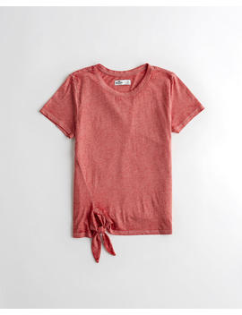 side-tie-crewneck-t-shirt by hollister