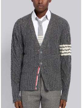 4-bar-aran-cable-cardigan by thom-browne