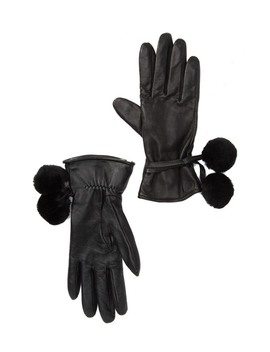 brita-genuine-shearling-pompoms-smart-gloves by ugg