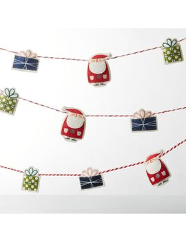 whimsy-holiday-felt-garland by crate&barrel