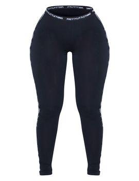 prettylittlething-shape-black-jersey-tape-leggings by prettylittlething