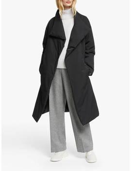 john-lewis-&-partners-longline-belted-puffer-jacket,-black by john-lewis-&-partners