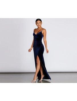 kirsten-velvet-wrap-formal-dress by windsor
