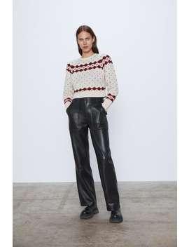 cropped-jacquard-sweater by zara
