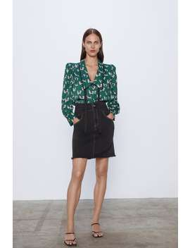 printed-blouse-with-scoop-neck by zara