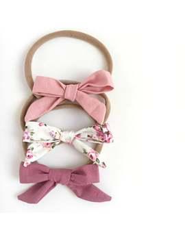 think-pink-baby-headband-bundle,-newborn-headband-gift-set,-baby-girl-headbands,-baby-bows,-baby-shower-gift-for-baby-girl,-toddler-headband by etsy