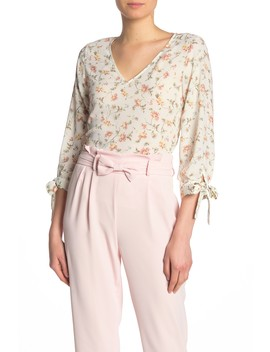 floral-tie-sleeve-blouse by cece-by-cynthia-steffe