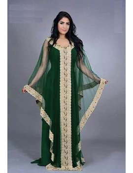 green-and-gold-dubai-style-moroccan-women-kaftan by etsy