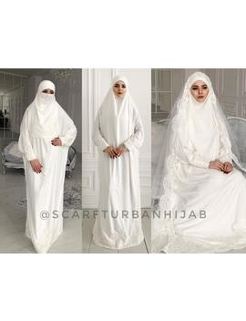 gorgeous-wedding-costume-for-muslim,-islamic-bridal-khimar,-wedding-jilbab,-nikkah,-hajj-clothing by etsy