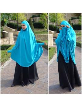 transformer-turquoise-khimar,-niqab-burqa,-blue-niqab,-traditional-burqa,-french-hijab,ready-to-wear-hijab,-long-hijab,burqa,-long-khimar by etsy