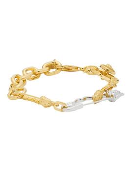 gold-&-silver-medusa-safety-bracelet by versace