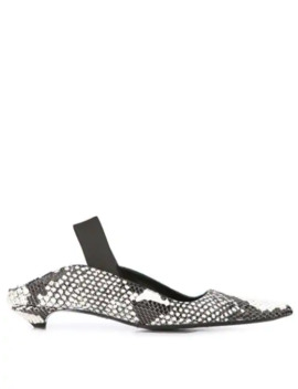 python-embossed-slingback-pumps by proenza-schouler
