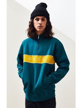 obey-deal-mock-neck-quarter-zip-pullover by pacsun
