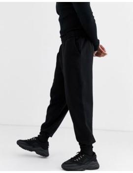 asos-design-–-sorte-afslappede-joggingbukser by asos-design