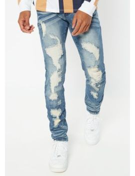 supreme-flex-medium-wash-ripped-repaired-skinny-jeans by rue21