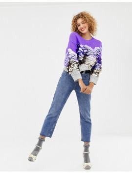 asos-design-sweater-with-oversized-sequin-detail by asos-design